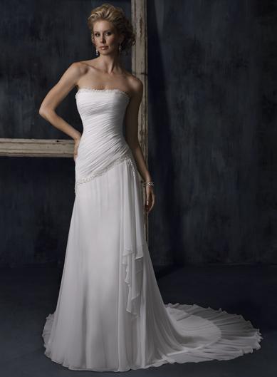 Sheath Chiffon Wedding Dresses