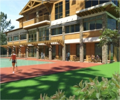 clubhouse rendering feat