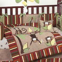 Monkey Baby Bedding From JoJo Designs.