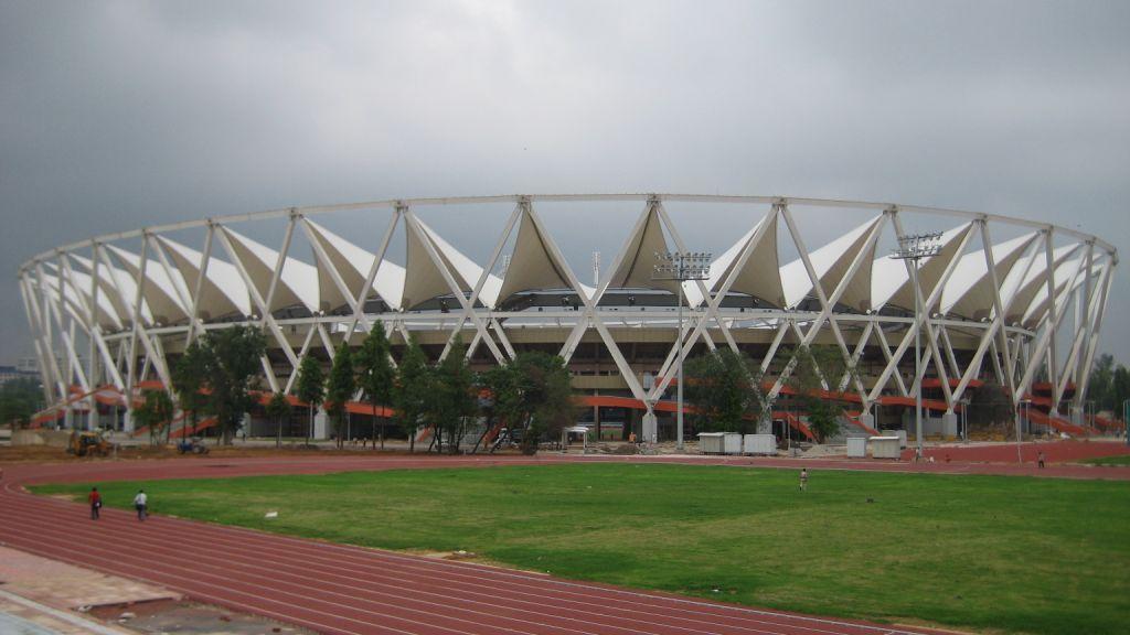 Jawaharlal Nehru Stadium Features Tensile Membrane Fabric