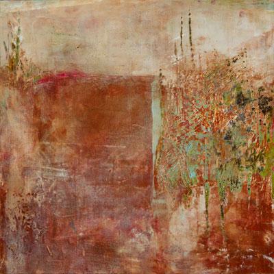 Walton's Untitled(2010), cold wax & oil on board