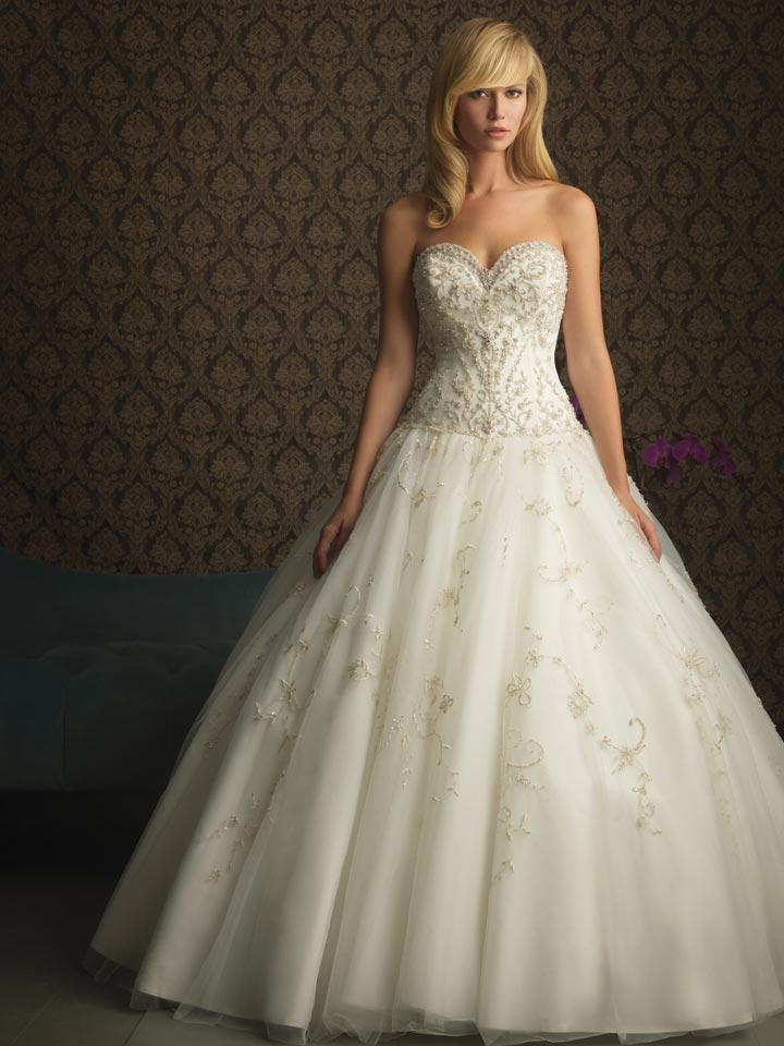 Ivory Strapless Ball Gown Unique Simple Designer Wedding Dress Zoombridal