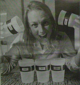 Shelly Zimmerman with her invention