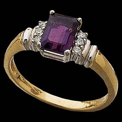 Sterling Leaf's Amethyst Ring