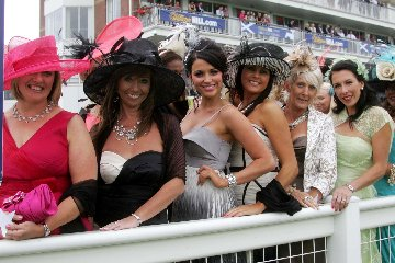 Ladies Day at Ayr Racecourse, Ayrshire, Scotland.