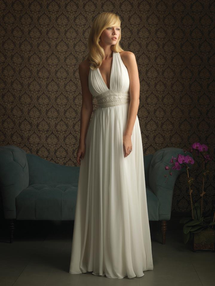 ivory halter flower beaded chiffon column sheath unique