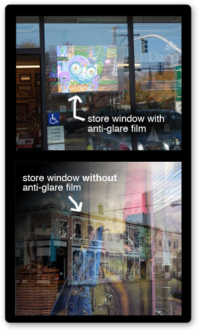 anti-reflection-film-storefront window displays