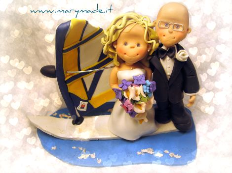 Windsurf wedding cake topper, Hand Made by Mary