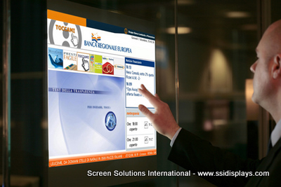 Interactive Digital Signage Adding A Touch Screen To