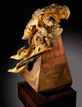 Precipitous Drop - Wood Sculpture