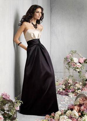 Black And Ivory Bridesmaid Dresses 9