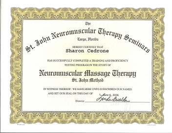 Neuromuscular Massage Therapy Certification St. John Method 2005 small
