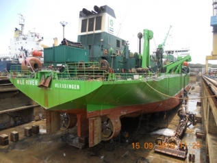 DREDGER NILE RIVER IN DRYDOCK NO. 4