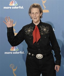 Temple Grandin at Emmy's (AP photo/Chris Pizzello)