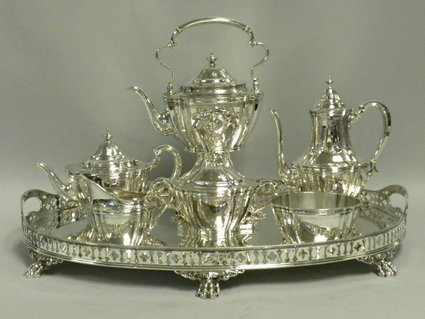 edwardian tiffany tea coffee set