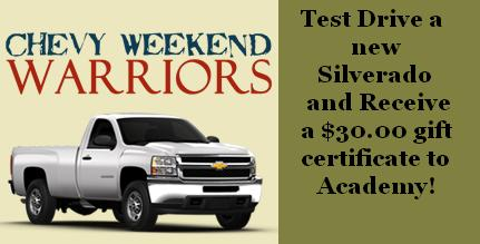 Munday Chevrolet is part of the Chevy Weekend Warriors ...
