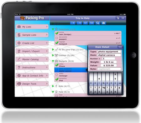 Packing Pro on iPad