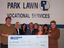 Standard Bank donates $1200 in tips to Park Lawn.