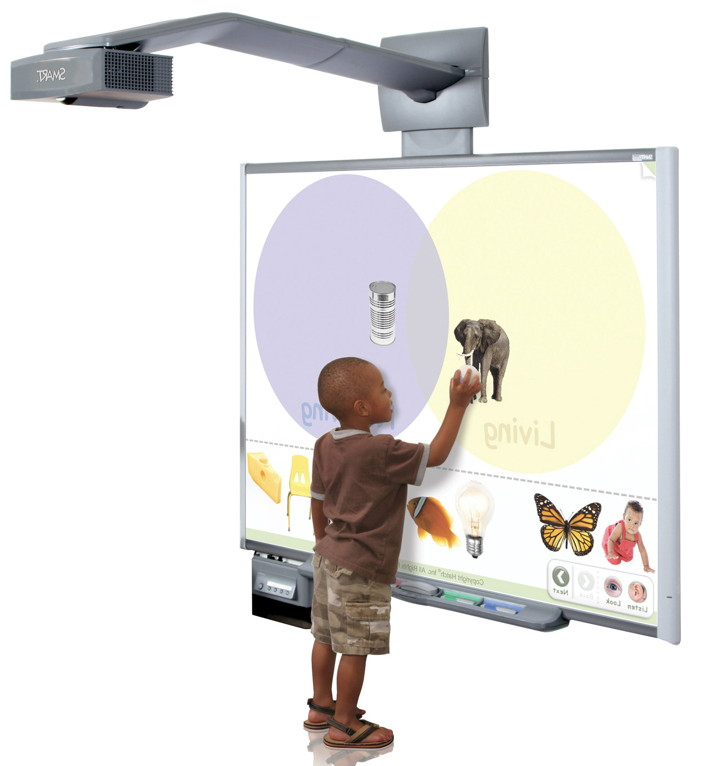 Kids R Kids of Clayton preschool kids use SMARTboards