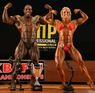Alvin Small and Lisa Cross at UKBFF Nottingham