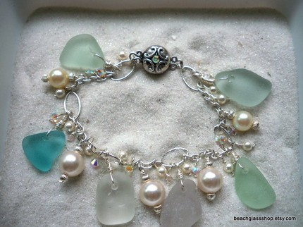 beach glass shop gems of lake erie beach glass bracelet