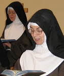 Sisters pray the Divine Office.