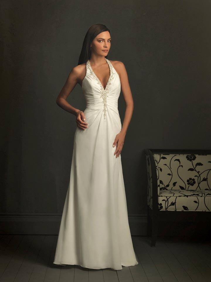 ivory wedding dresses halter top wedding dress chiffon