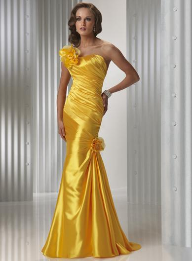 Orange Full Length Prom Gown Evening Dress Zoombridal