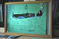 Spitfire mirror signed by Battle of Britain pilots