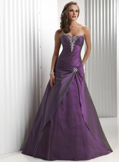 Plum Prom GownPlum Evening DressPlum Party DressPlum Special Occasions Dress