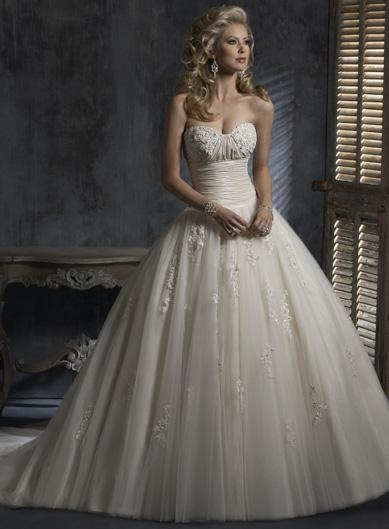 Light Gold Wedding Dresses