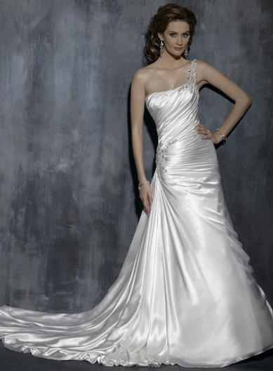 World Style One Shoulder Wedding Dress
