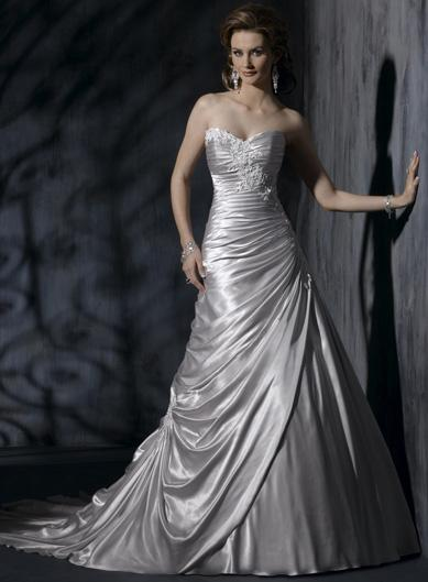 Silver Wedding GownEmbellished Lace Wedding DressesCorset Wedding Dresses