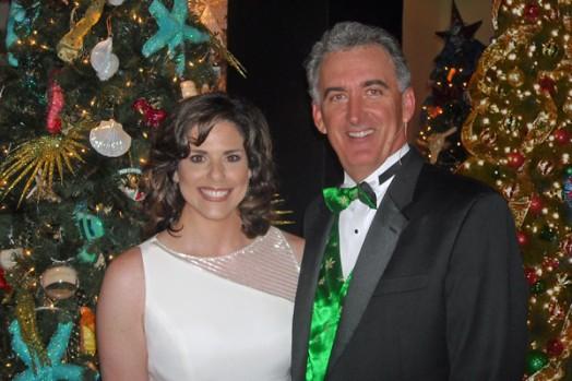 Hostess Stacey Adams & Auctioneer Scott Robertson