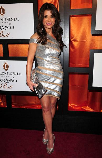 Paula Abdul wears Jean Fares Couture