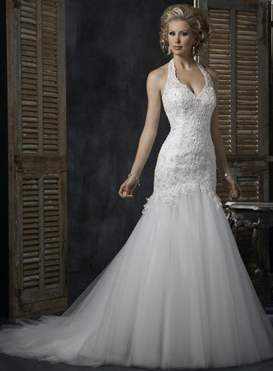 White Romantic Halter top 2011 Wedding Dresses -- zoombridal.com | PRLog
