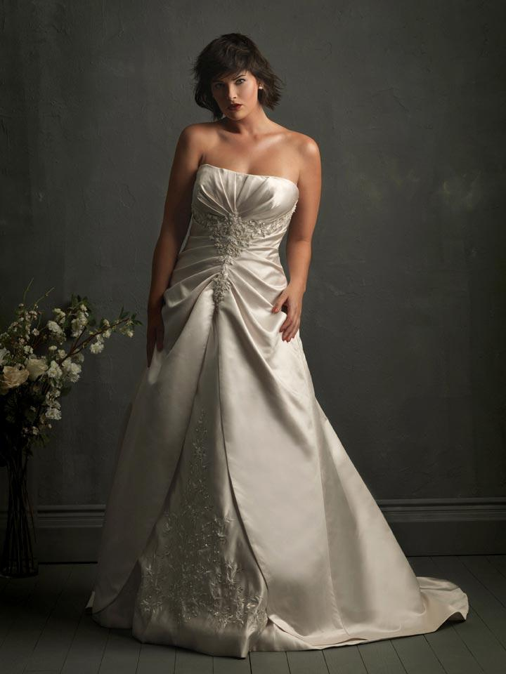 Strapless Applique Unique Plus Size Wedding Dresses