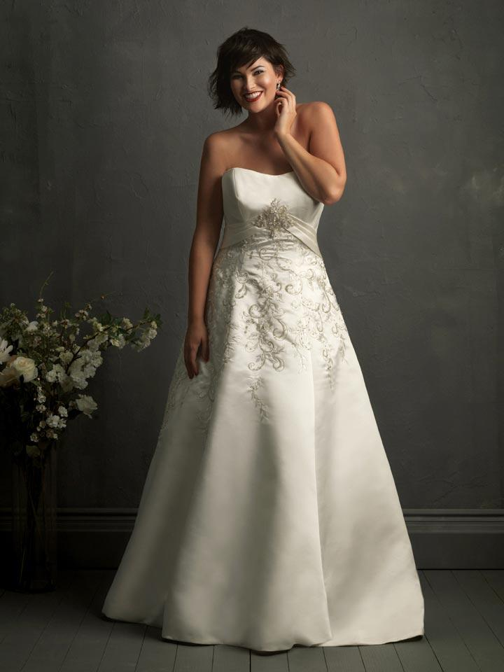 Plus Size Wedding Dresses Hong Kong : Ivory strapless scoop unique ball gowns plus size wedding