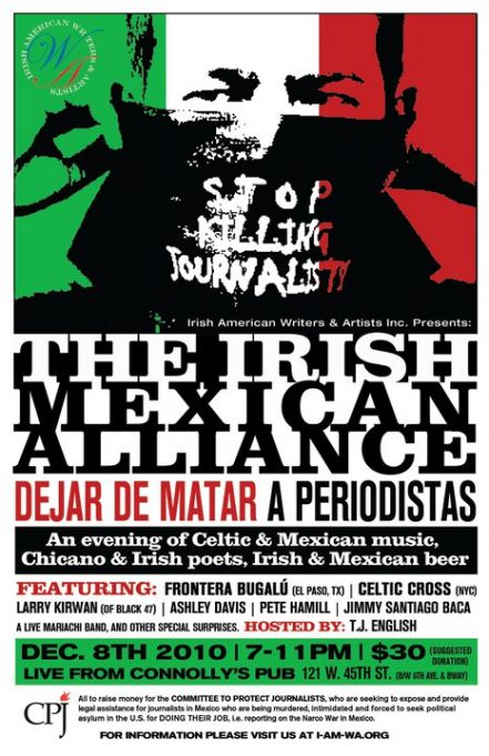 The Irish Mexican Alliance Event, Dec 8 in NYC
