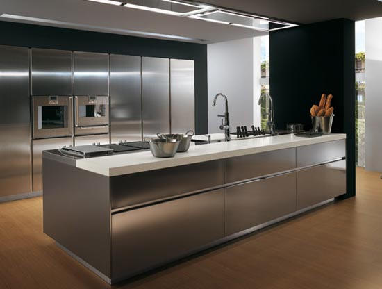 Kitchen Storage Garage Cabinetry Glass Doors Stainless Steel
