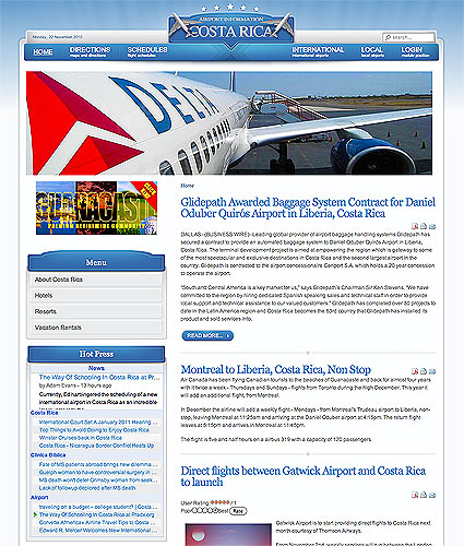 Information Site: Costa Rica Airport Information Site Opens -- Don G