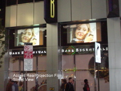 Rear Projection Film Window TV Times Square SSI