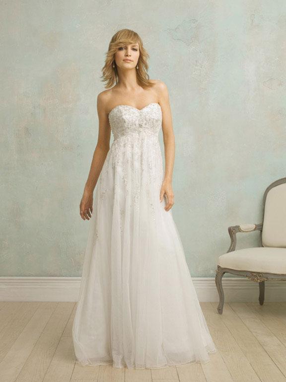 Empire Waist Couture Vintage Wedding Dresses Prlog