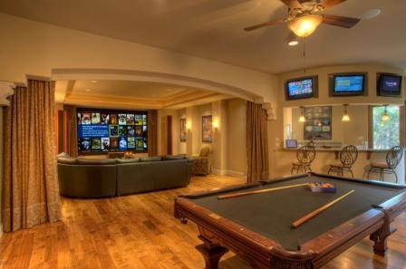A Media/Game Room by Sterling Custom Homes