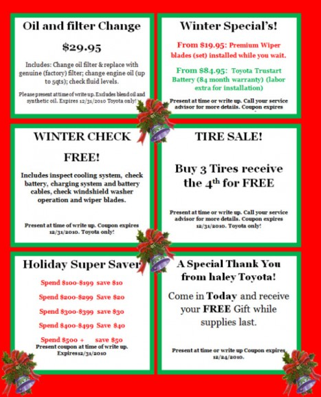 Haley-Toyota-Certified-Center-Service-Coupons