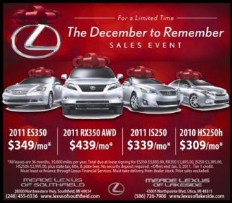 Lexus holiday sale