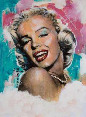 Marilyn Monroe renderings by pop culture artist Sidney Maurer fetch ... a58e05423c