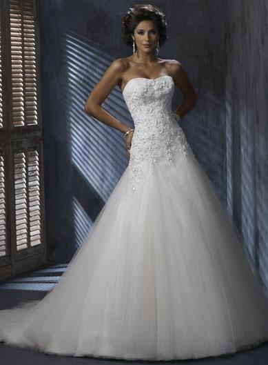 Corset Tulle Wedding Dress