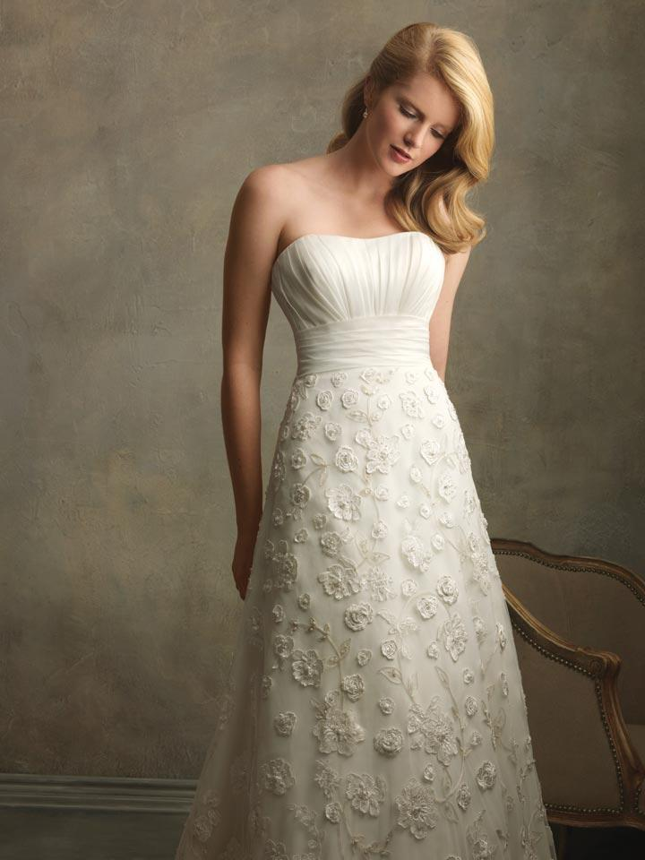 Ivory Embroidered Floral Designer Vintage Wedding Dresses