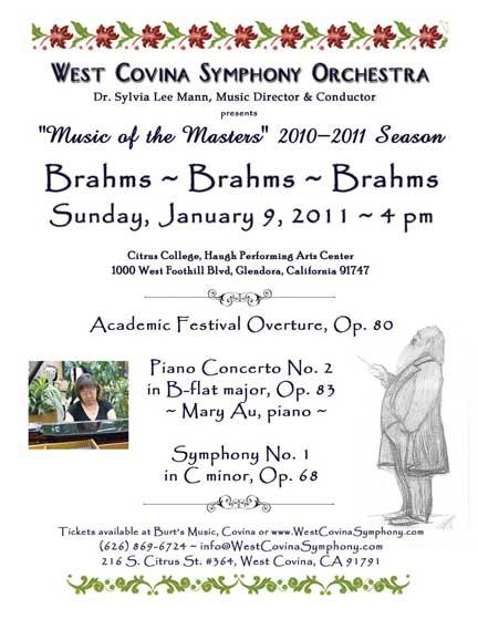 Brahms Brahms Brahms Jan 9 2011 Poster